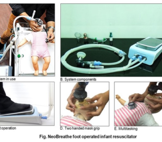 FOOT-OPERATED RESUSCITATION DEVICE FOR NEW-BORN